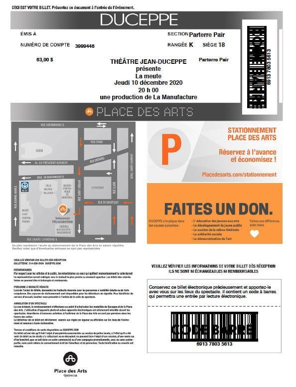 imprimer billets