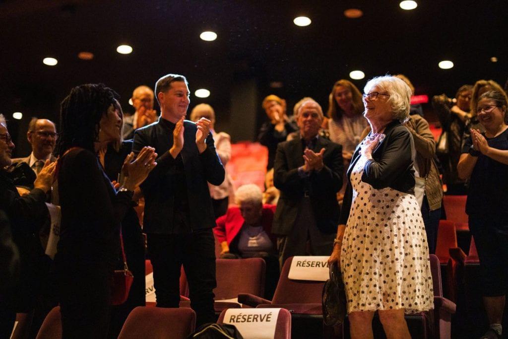 L'actrice Béatrice Picard lors d'un gala de la Fondation Duceppe.
